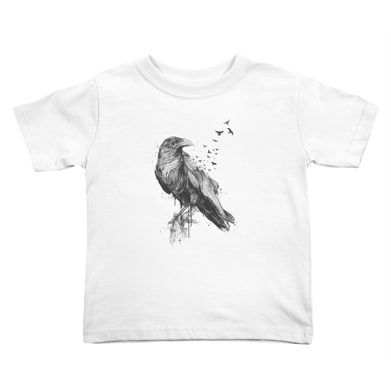 Born to be free Kids Toddler T-Shirt by Balazs Solti