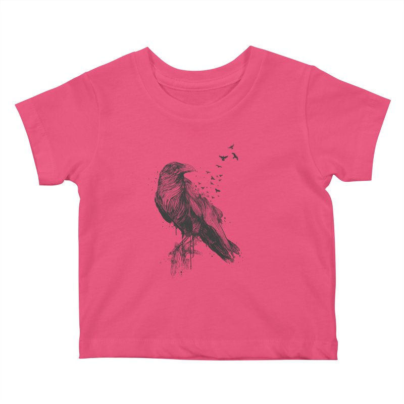 Born to be free Kids Baby T-Shirt by Balazs Solti