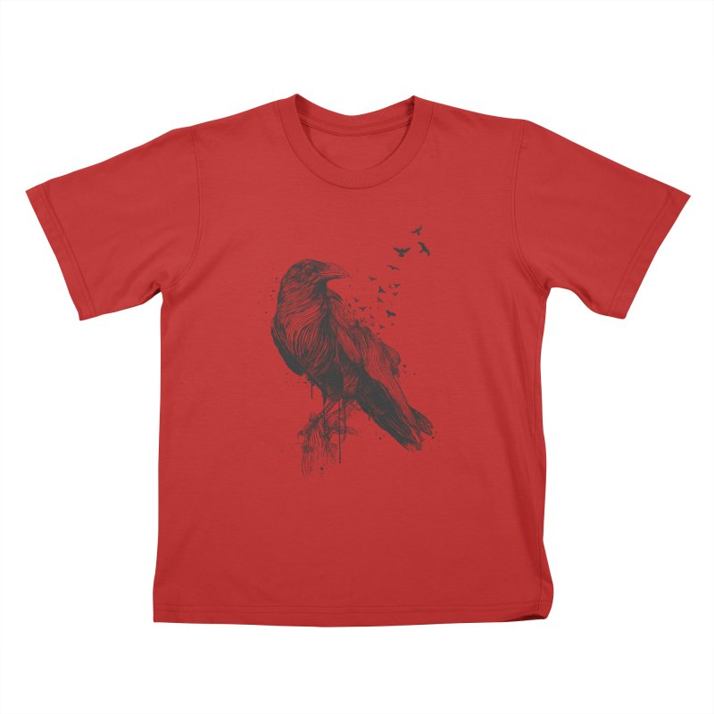 Born to be free Kids T-Shirt by Balazs Solti