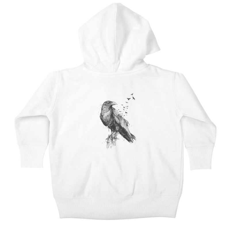 Born to be free Kids Baby Zip-Up Hoody by Balazs Solti