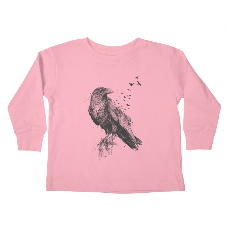 Born to be free Kids Toddler Longsleeve T-Shirt by Balazs Solti
