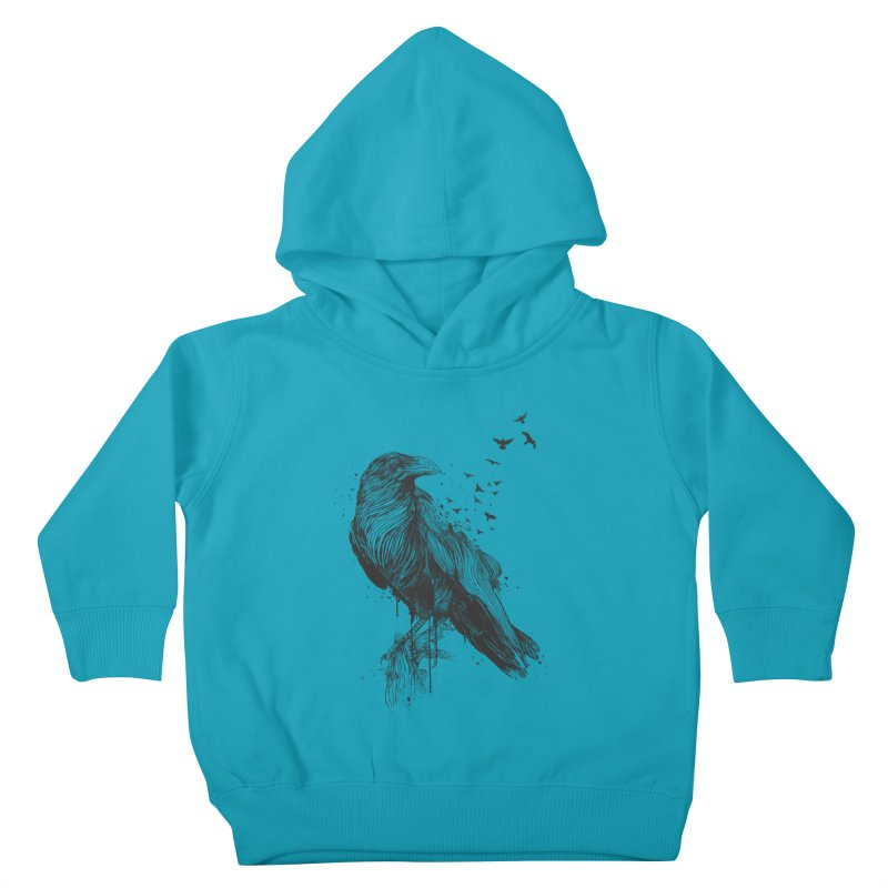 Born to be free Kids Toddler Pullover Hoody by Balazs Solti