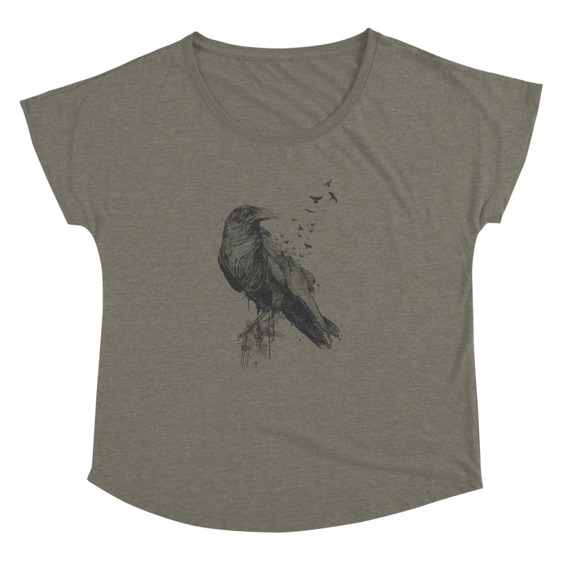 Born to be free Women's Dolman Scoop Neck by Balazs Solti