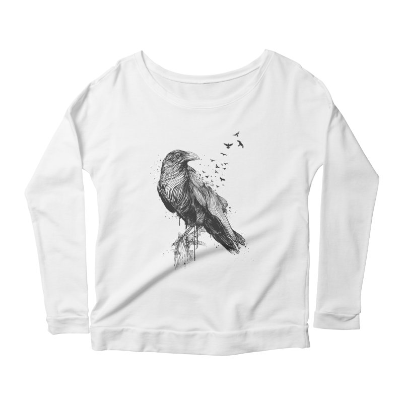 Born to be free Women's Scoop Neck Longsleeve T-Shirt by Balazs Solti