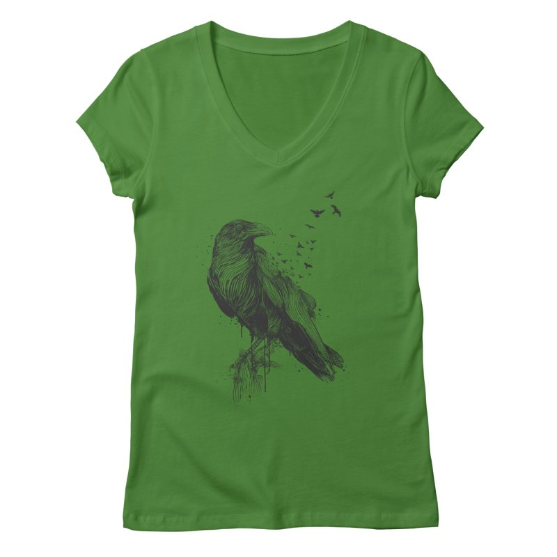 Born to be free Women's Regular V-Neck by Balazs Solti