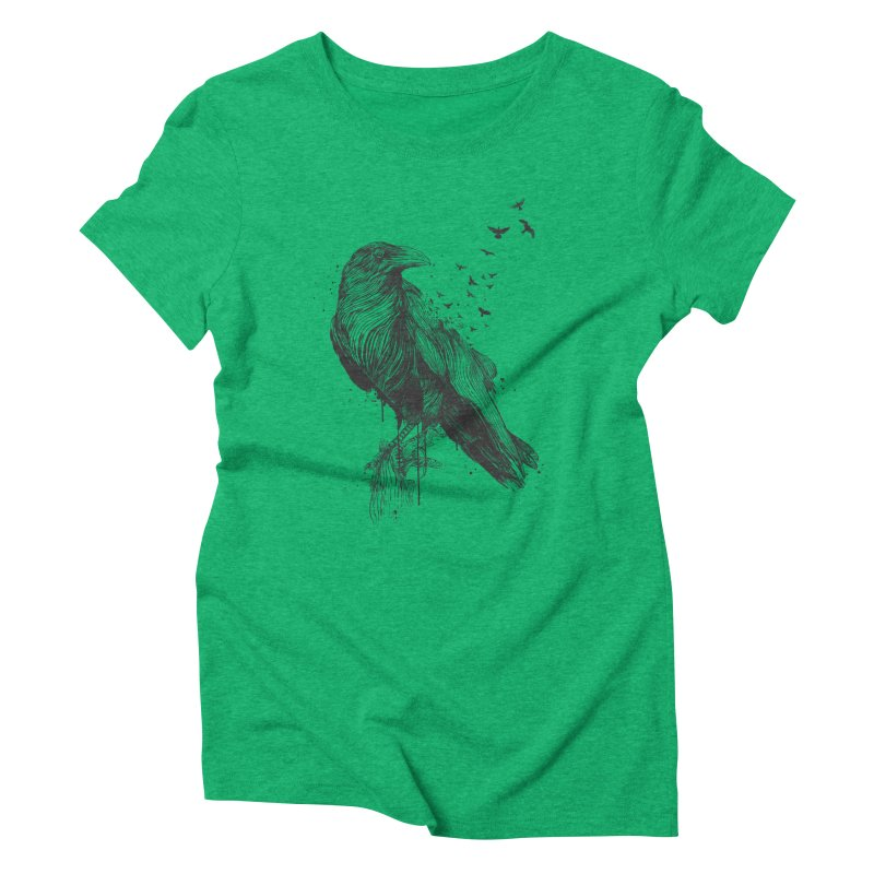 Born to be free Women's Triblend T-Shirt by Balazs Solti