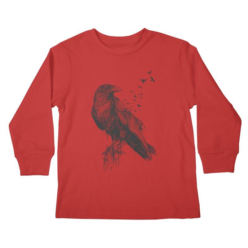 Born to be free Kids Longsleeve T-Shirt by Balazs Solti