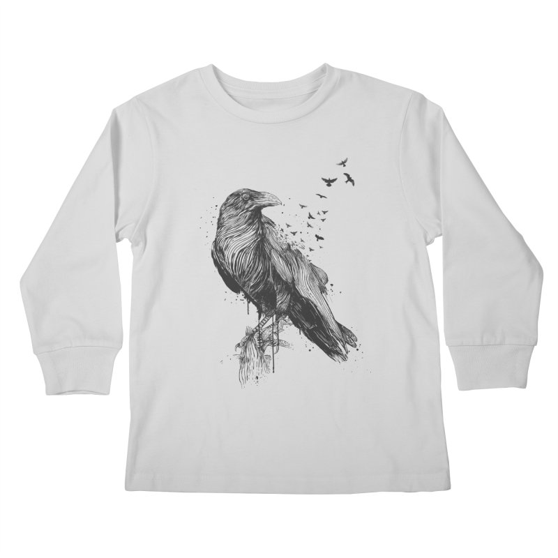 Born to be free Kids Longsleeve T-Shirt by Balazs Solti