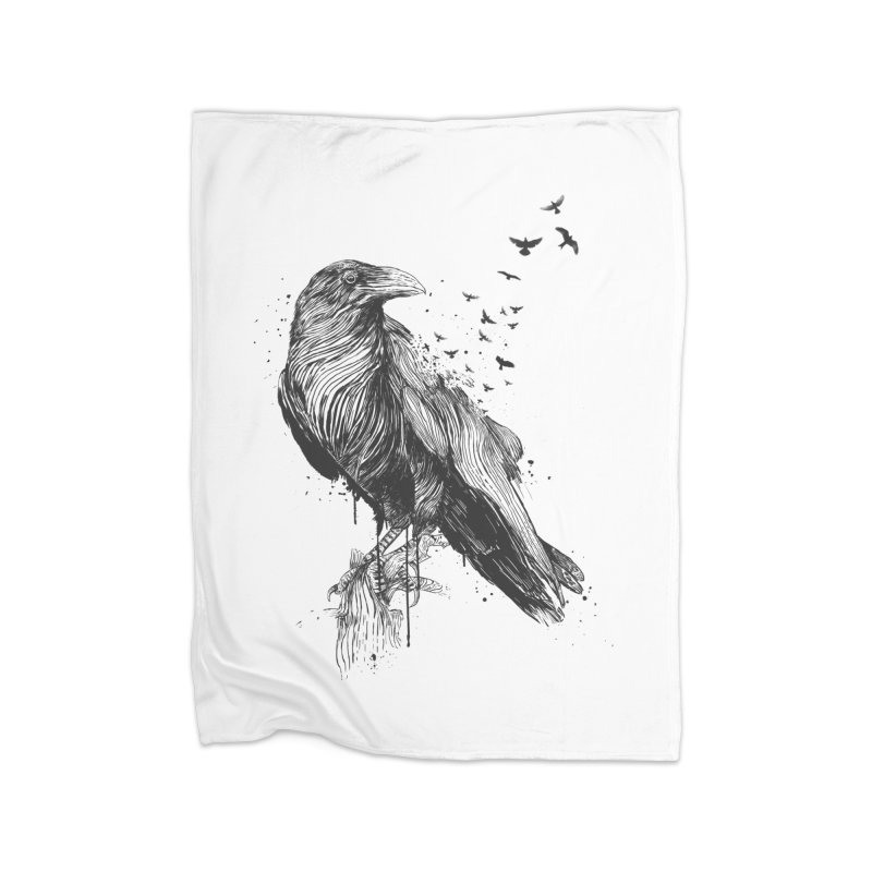Born to be free Home Fleece Blanket Blanket by Balazs Solti