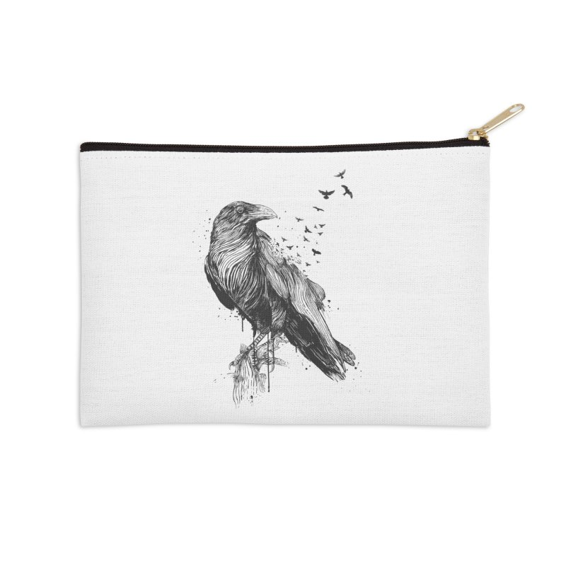Born to be free Accessories Zip Pouch by Balazs Solti