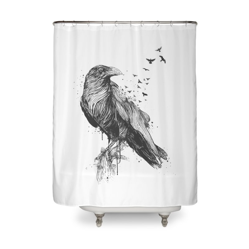 Born to be free Home Shower Curtain by Balazs Solti