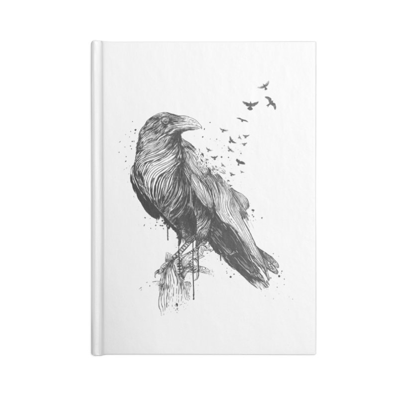 Born to be free Accessories Blank Journal Notebook by Balazs Solti