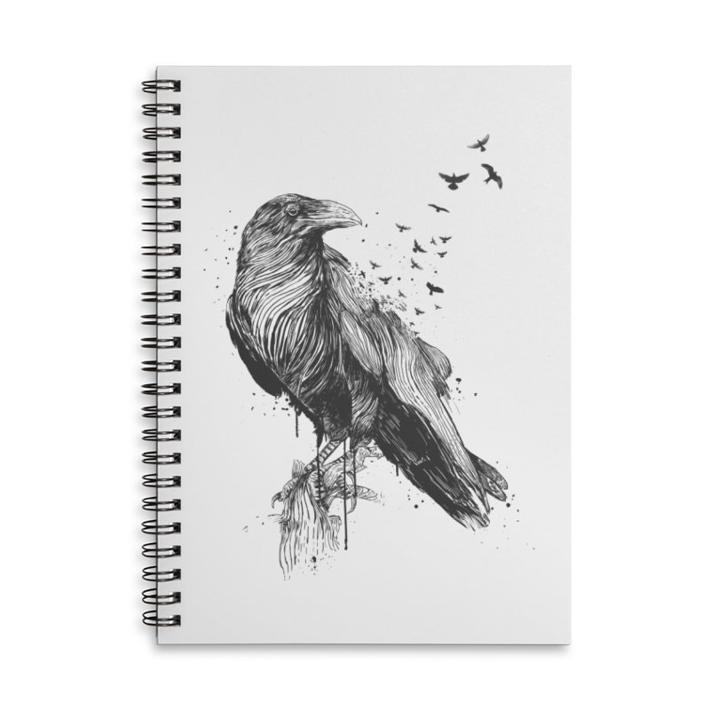 Born to be free Accessories Lined Spiral Notebook by Balazs Solti