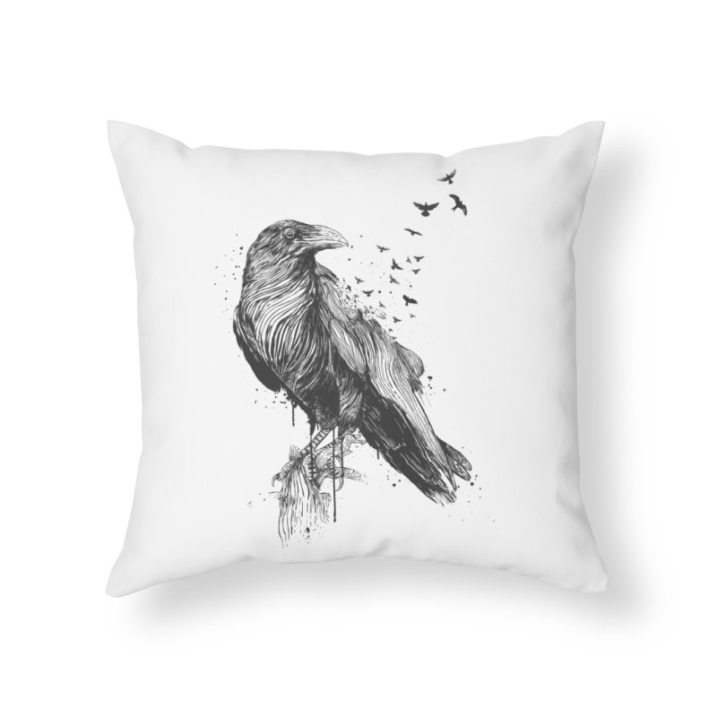 Born to be free Home Throw Pillow by Balazs Solti