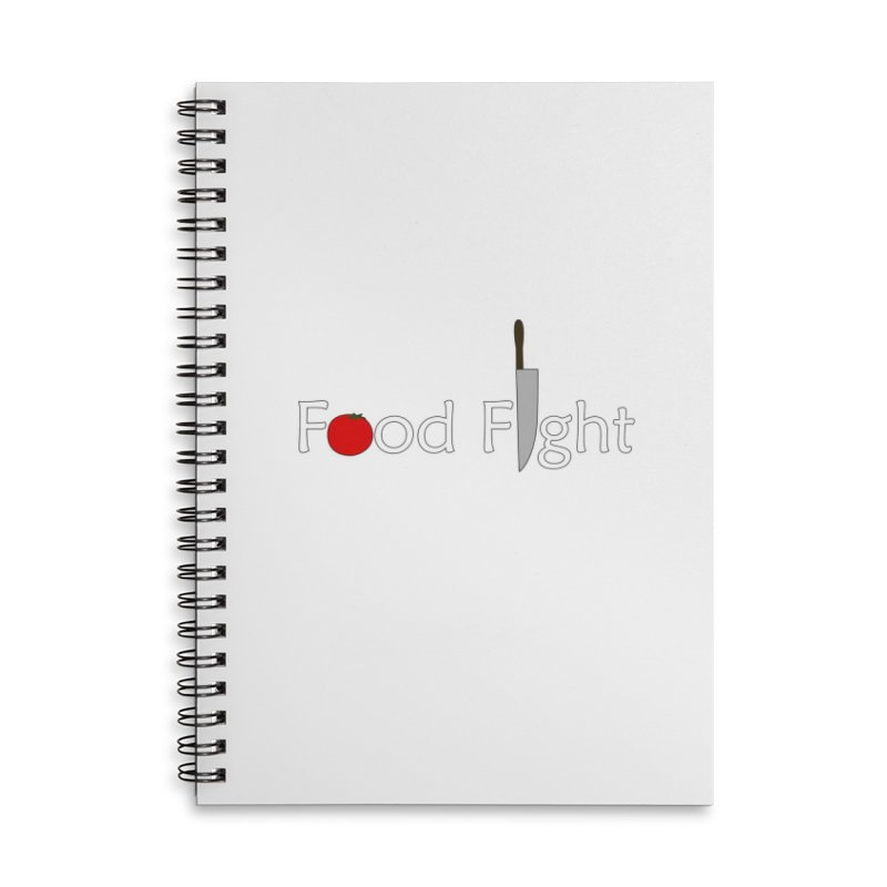 Food Fight. Accessories Lined Spiral Notebook by some art worker