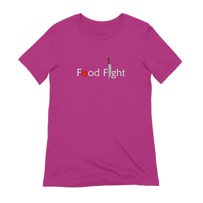 Food Fight. Women's Extra Soft T-Shirt by some art worker