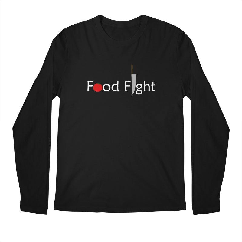 Food Fight. Men's Regular Longsleeve T-Shirt by some art worker