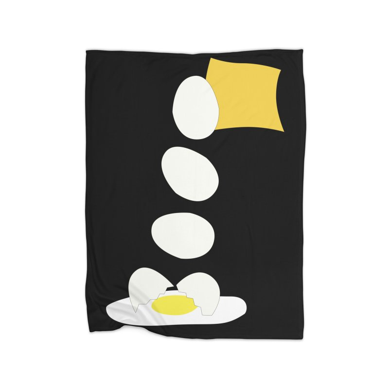 Food Fight - Cheese vs Egg. Home Blanket by some art worker