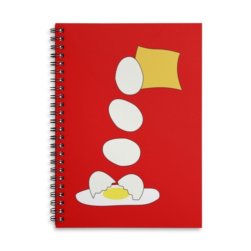 Food Fight - Cheese vs Egg. Accessories Lined Spiral Notebook by some art worker