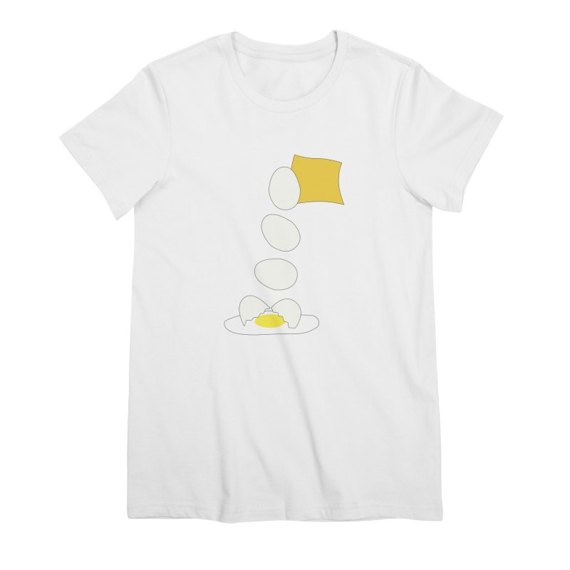 Food Fight - Cheese vs Egg. Women's Premium T-Shirt by some art worker