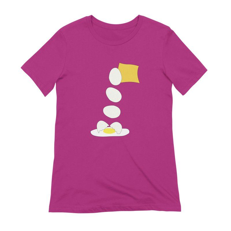 Food Fight - Cheese vs Egg. Women's Extra Soft T-Shirt by some art worker