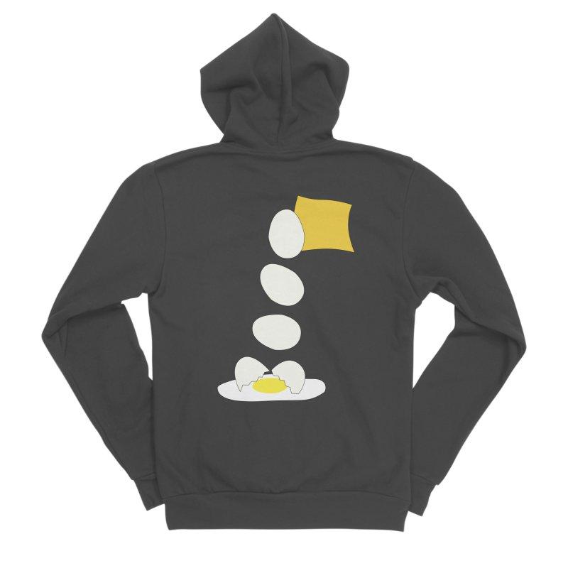 Food Fight - Cheese vs Egg. Men's Sponge Fleece Zip-Up Hoody by some art worker