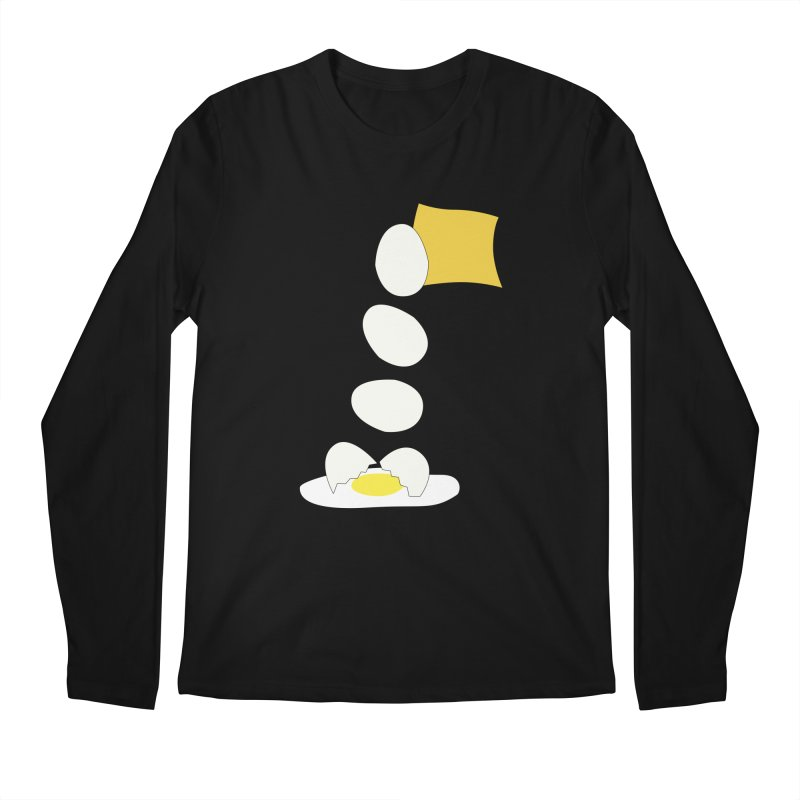 Food Fight - Cheese vs Egg. Men's Regular Longsleeve T-Shirt by some art worker
