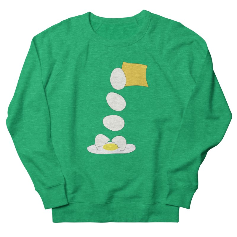 Food Fight - Cheese vs Egg. Men's French Terry Sweatshirt by some art worker