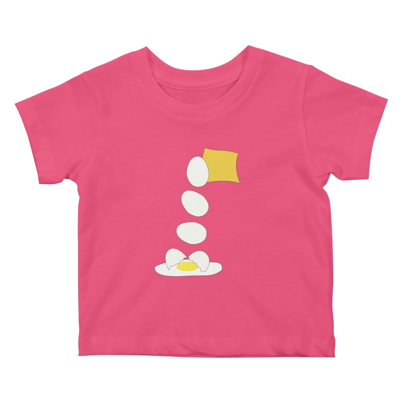 Food Fight - Cheese vs Egg. Kids Baby T-Shirt by some art worker