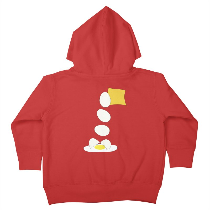 Food Fight - Cheese vs Egg. Kids Toddler Zip-Up Hoody by some art worker