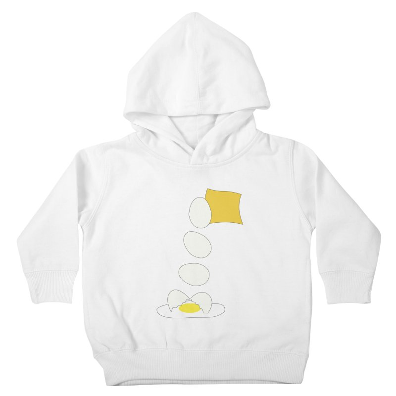 Food Fight - Cheese vs Egg. Kids Toddler Pullover Hoody by some art worker