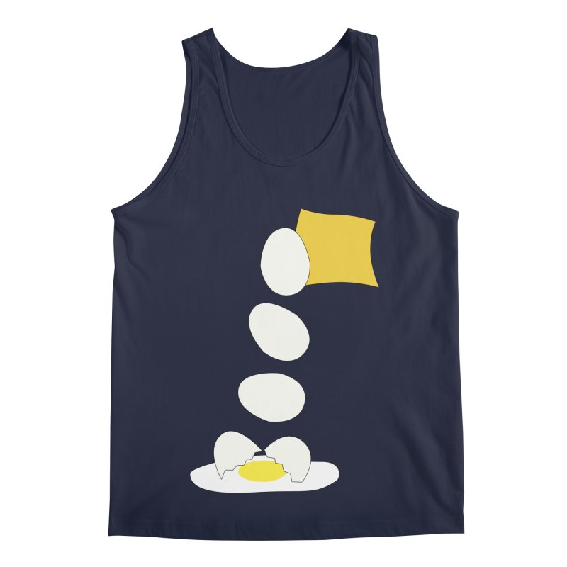 Food Fight - Cheese vs Egg. Men's Regular Tank by some art worker