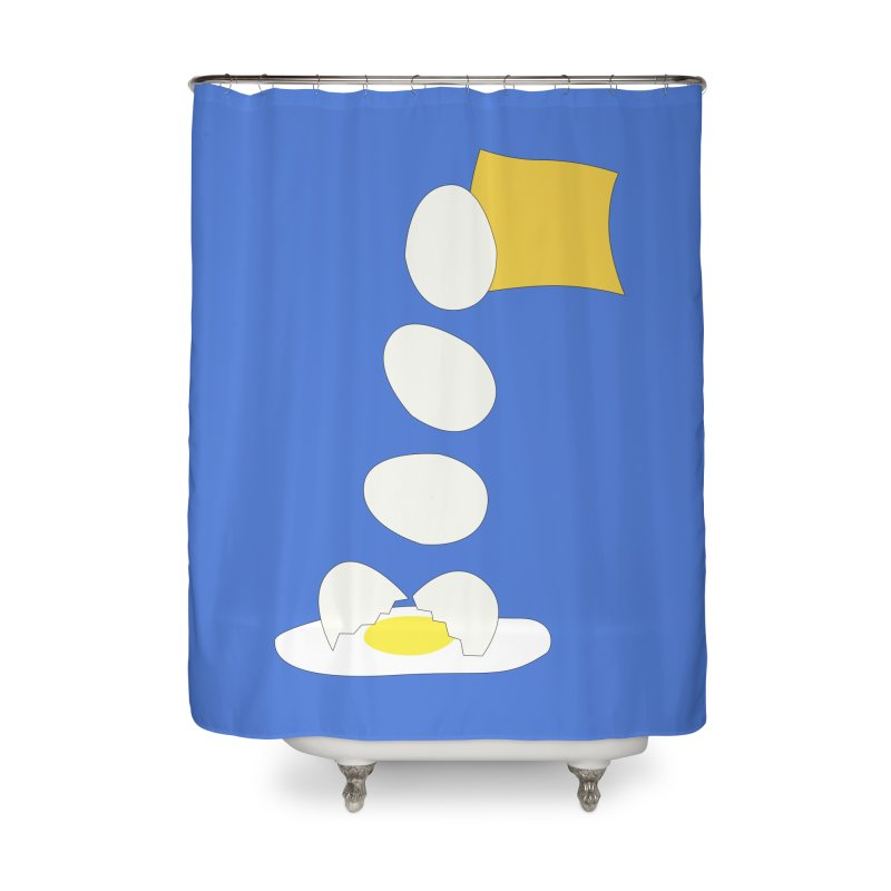 Food Fight - Cheese vs Egg. Home Shower Curtain by some art worker