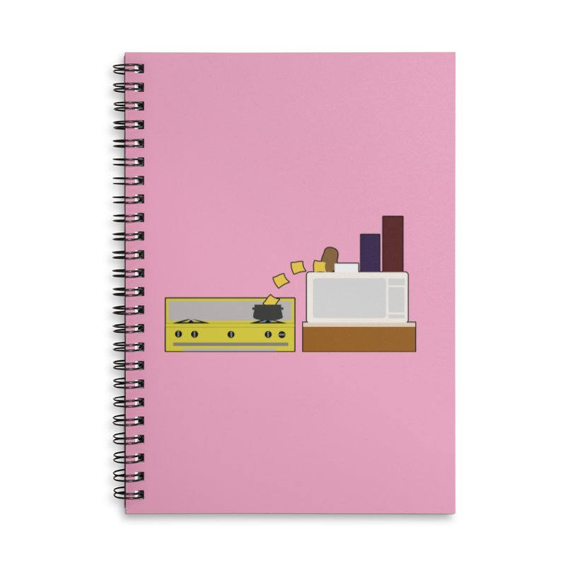 Food Fight - Potato vs Cheese. Accessories Lined Spiral Notebook by some art worker