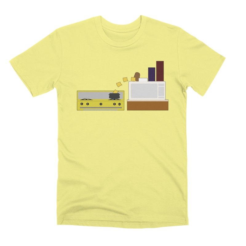 Food Fight - Potato vs Cheese. Men's Premium T-Shirt by some art worker
