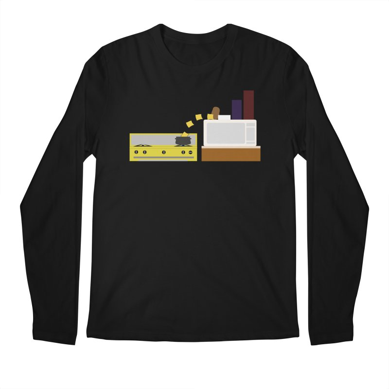Food Fight - Potato vs Cheese. Men's Regular Longsleeve T-Shirt by some art worker