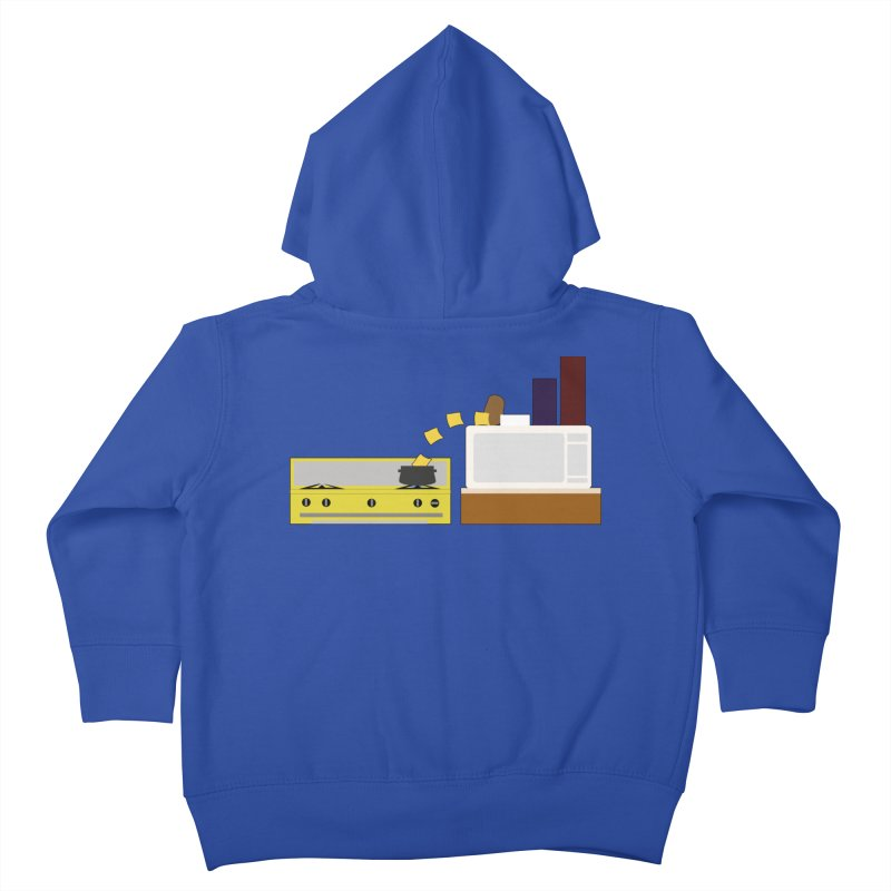 Food Fight - Potato vs Cheese. Kids Toddler Zip-Up Hoody by some art worker