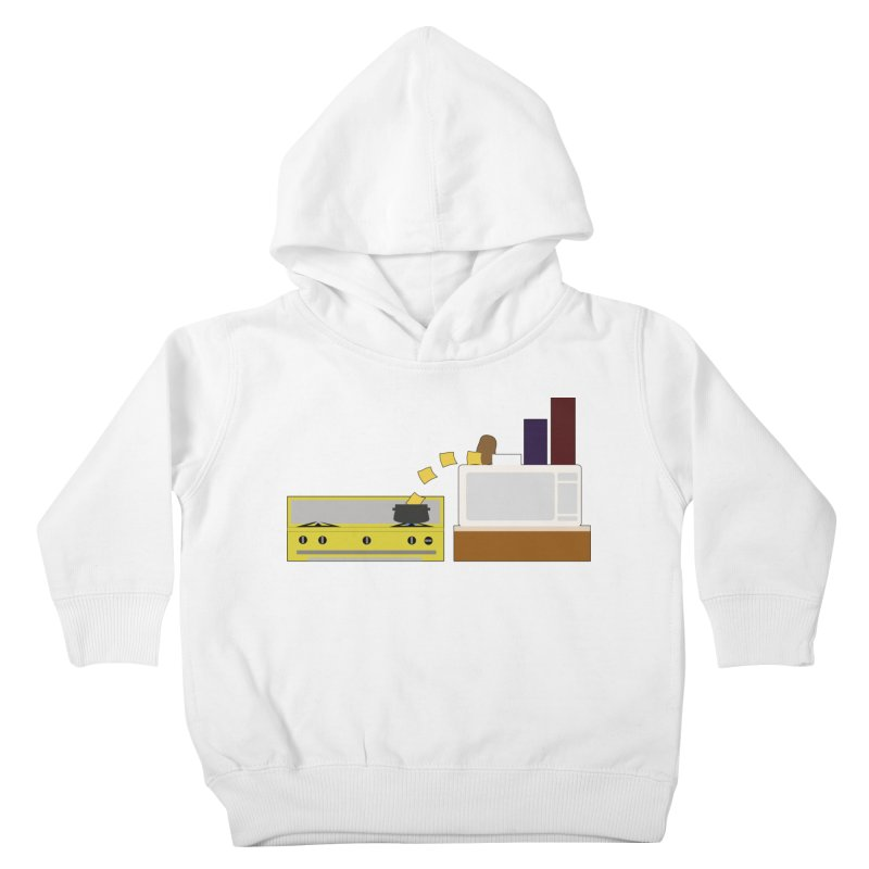 Food Fight - Potato vs Cheese. Kids Toddler Pullover Hoody by some art worker