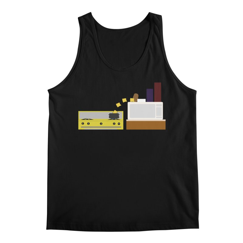 Food Fight - Potato vs Cheese. Men's Regular Tank by some art worker