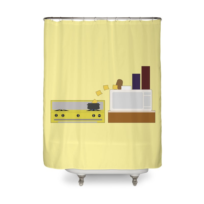 Food Fight - Potato vs Cheese. Home Shower Curtain by some art worker