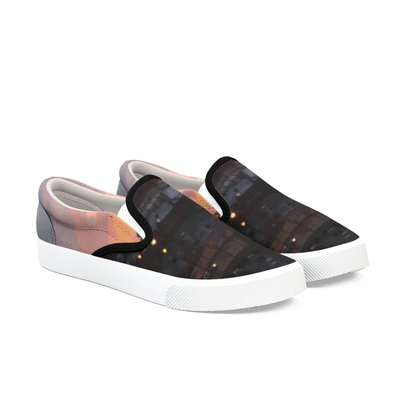 Sunset - April 6, 2018 7:34PM. Men's Slip-On Shoes by some art worker