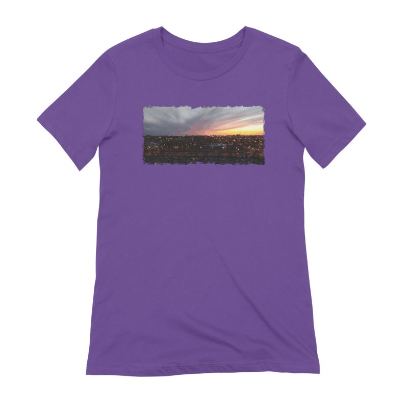 Sunset - April 6, 2018 7:34PM. Women's Extra Soft T-Shirt by some art worker