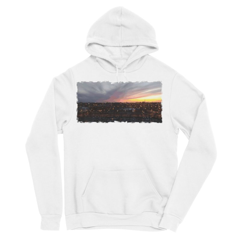 Sunset - April 6, 2018 7:34PM. Men's Sponge Fleece Pullover Hoody by some art worker