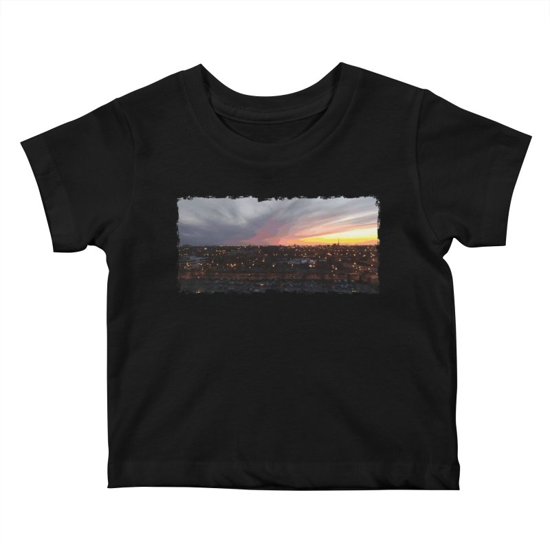 Sunset - April 6, 2018 7:34PM. Kids Baby T-Shirt by some art worker