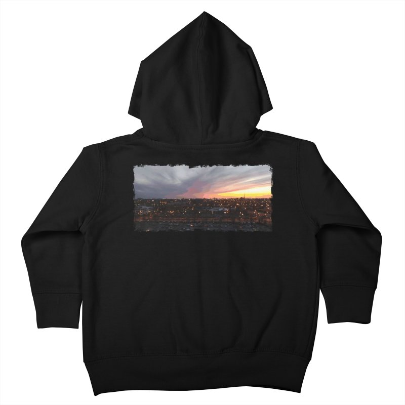 Sunset - April 6, 2018 7:34PM. Kids Toddler Zip-Up Hoody by some art worker