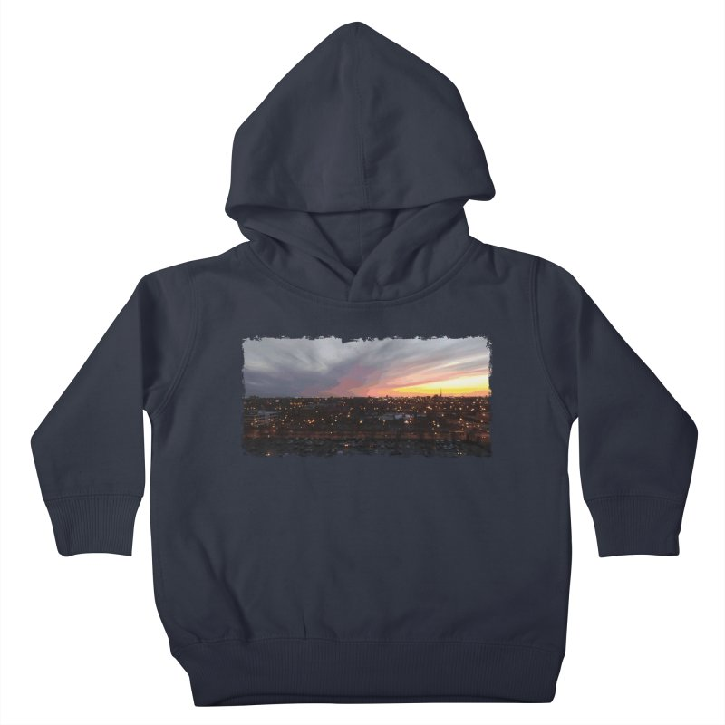 Sunset - April 6, 2018 7:34PM. Kids Toddler Pullover Hoody by some art worker
