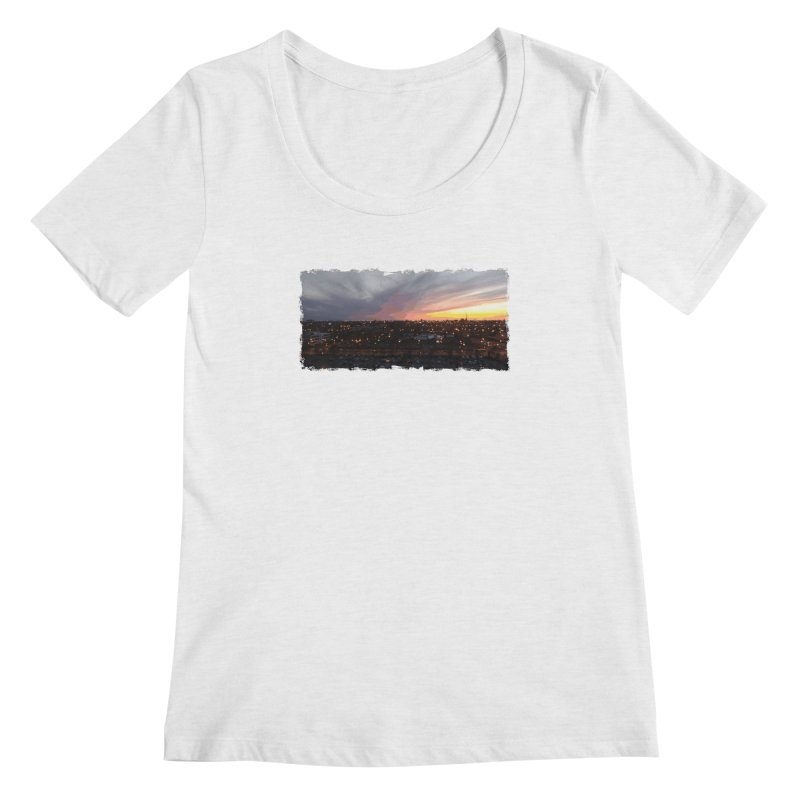Sunset - April 6, 2018 7:34PM. Women's Regular Scoop Neck by some art worker