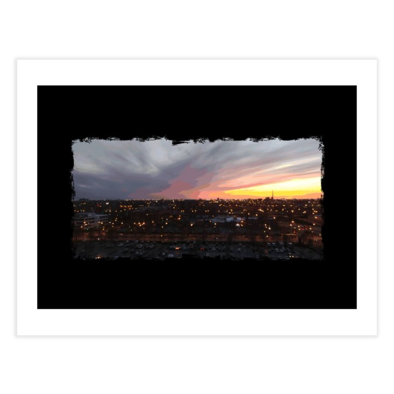 Sunset - April 6, 2018 7:34PM. Home Fine Art Print by some art worker