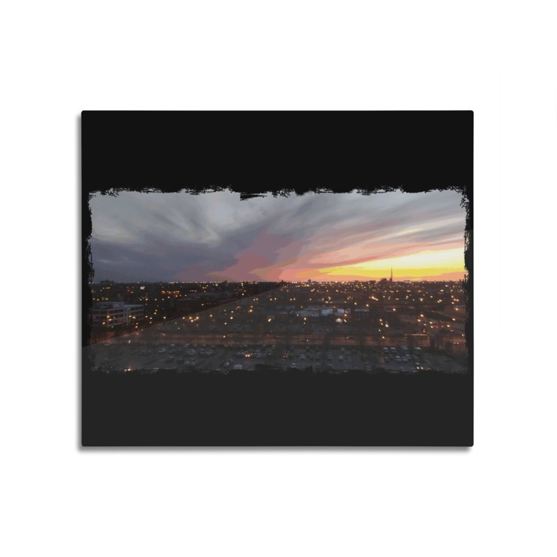 Sunset - April 6, 2018 7:34PM. Home Mounted Aluminum Print by some art worker
