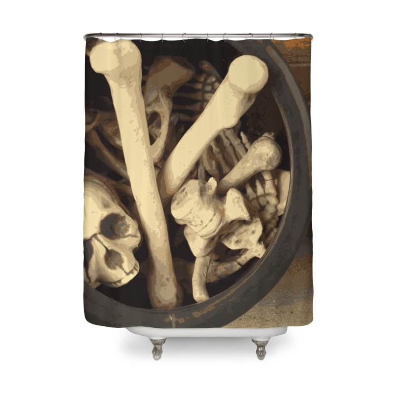 Caldron of bones. Home Shower Curtain by some art worker